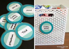 The Homes I Have Made: DIY Dry Erase Labels