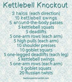 Finally a full workout where I can use my Kettlebell :)