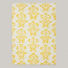 One of my favorite discoveries at WorldMarket.com: White and Gold Abria Flat-Woven Wool Rug