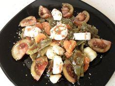 Ensalada De Judías Verdes Con Crema De Vinagre De Frambuesas. Recetas, recipes, food...