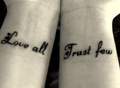 I have a thing for wrist tattoos...