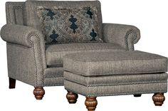 Mayo 4300 Chair & Ottoman - Tuscan Tweed
