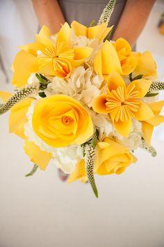 grey yellow wedding