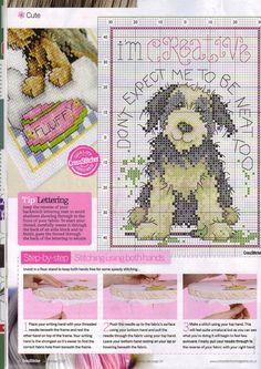 Schematic cross stitch Dog