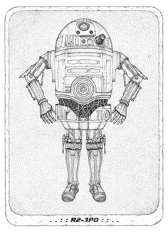 R2 3PO  R2D2 and C3PO mashup  Star Wars