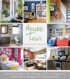 House Tour of @Jenna_Burger, DIYer, Designer, and Home Blogger of SASinteriors.net