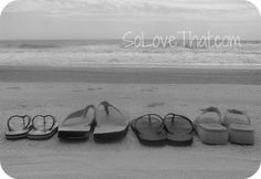 beach pic family shoes