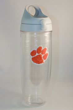 24 oz Clemson Paw Tervis Water Bottle