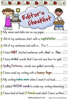 writing #checklist #Writing #Center #Posters #Editing  #Writers #Handbook