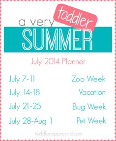 A Very Toddler Summer.  Activities Ideas featured all summer long by @kbus