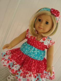 "Juvie Moon Designs  LIDDY DOLL Dress PDF Pattern for 18"" Dolls. $7.00, via Etsy."