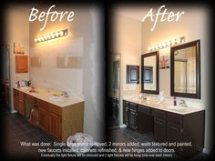 Bathroom Makeover!  Amazing what a little paint can do to cabinets!