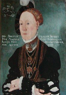 Birgitte Gøye (1511 - 26 July 1574) was a Danish county administrator, lady in waiting, landholder and noble, and a co-founder and principal of Herlufsholm School.