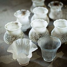 Turn chandelier lampshades into votives