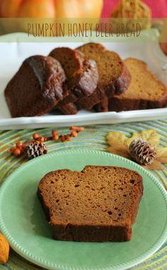 Pumpkin Honey Beer Bread | A Sweet Baker