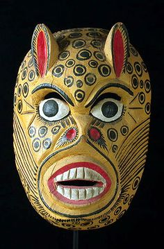 Jaguar mask from Guerrero, Mexico
