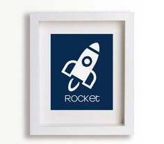 Childrens First Art Print Rocket 8x10 Baby's by NikoAndLily $14.95 NEED