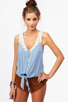 Tied Crochet Top