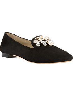LE CAPRESI - Ellal PEARL AND crystal embellished loafer 7
