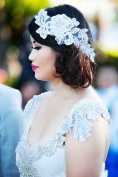 wedding hair // anna campbell wedding dress // miranda ivory collection //