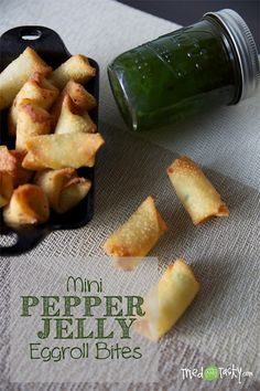 Mini Pepper Jelly Eggroll Bites // TriedandTasty