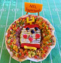 Kitchen Fun With My 3 Sons..Super Bowl Taco Bowls & other Fun Food Football Field ideas!