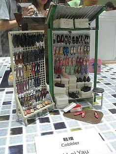 shoes, hong kong, miniatur shoe, shop displays, kong artistsseri, miniatur art, shoe shop, kong miniatur