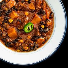 Chunky Pork and Sweet Potato Chili 1 by kitchenriffs, via Flickr