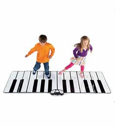 Giant Piano Floor Play Mat with Plug-in Speaker