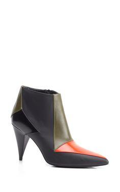 Tri-Tone Cone Heel Boot