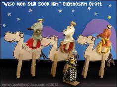 Drie Wijzen met wasknijpers - Christmas