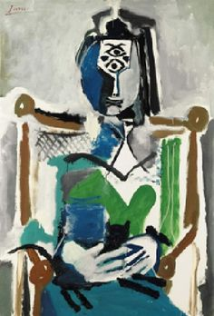 A woman with a cat, 1964, Picasso