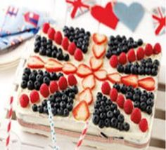 Union Jack Tray Bake