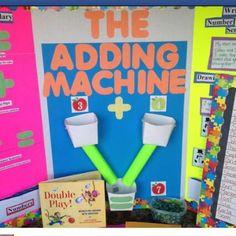 addition kindergarten, math center, ad machin, preschool adding machine, adding for kindergarten