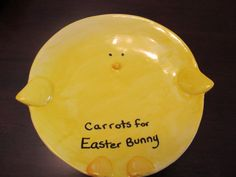 Tradition of leaving a plate of carrots for the Easter Bunny #Easter