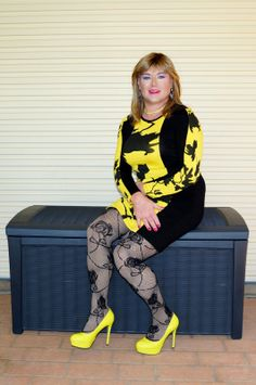 crossdressed from head to toe. More
