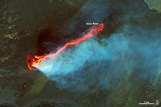 Roiling Flows on Holuhraun Lava Field. By some accounts, Holuhraun has spewed more lava than any Icelandic volcano since the 19th century. As of 9/09/2014, the new lava flow was 10-mi long & covered about 8-sq-mi, according to the Univ. of Iceland