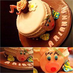 Torta maialino cioccolato e pistacchio di Caly Cake and..