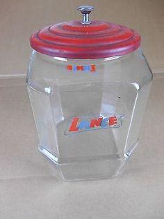 Vintage Lance Cracker Cookie Glass Store Countertop Counter Display Jar