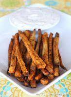 sweet potatoe fries with honey lime dip