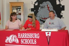 Haley Heuer, a senior at Harrisburg High School, signs her NCAA letter of intent to run track at the University of Central Missouri. Photo by TAMMY HEUER. To read the story, please click the link: http://www.columbiamissourian.com/stories/2012/05/01/readers-harrisburg-senior-signs-ncaa-letter-intent/