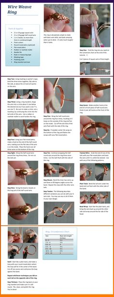 love the texture of the single twisted wire  Weave Ring Tutorial by ~goddessccoa