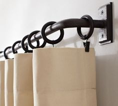 traditional curtain poles by Pottery Barn