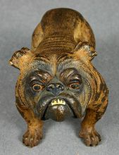 Delightful 19th Century Vienna Bronze Figure of English Bulldog
