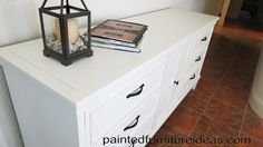 White painted dresser or buffet table