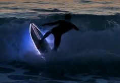 LED Surfboards Light Up The Ocean.