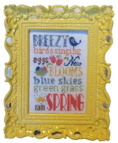 Pine Mountain Designs - Spring Typography Linen Kit [PMDLK03] - $18.00 : Laurels Stitchery, The best little stitchery shop on the internet!