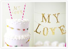 wedding cake toppers, layer cakes, paper straws, craft projects, wedding cakes, husband birthday, banner, parti, birthday cakes