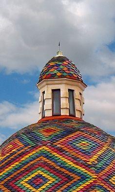 roof, san michel, crochet projects, italy vacation, sardinia, color, alghero, rainbow, itali