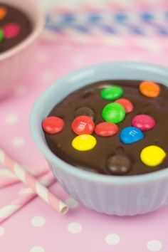 Mousse de chocolate y M's